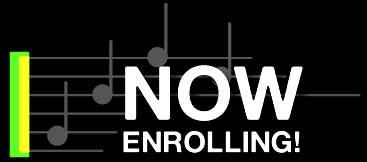 Now enrolling for music instruction